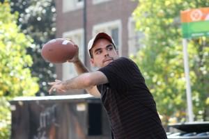 Brian Throwing Football
