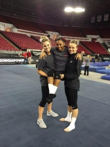 Kaylan and her senior teammates. (left) Cat Hires (right) Lindsey Cheek