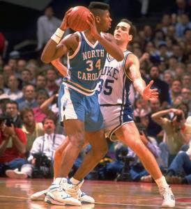 UNC vs Duke 1989. Photo creds: Sports Illustrated.