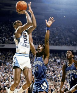 Michael Jordan puts the Tarheels ahead with a jumper. Photo creds: ImageEvent
