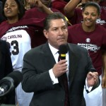 Athletic Director Ray Tanner spoke as part of the Gamecocks SEC Championship presentation.