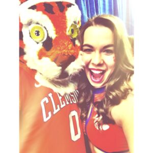 Me with our number one fan, the Tiger.