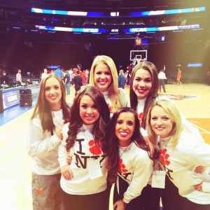 Before the game in Madison Square Garden, the world's most famous stage.
