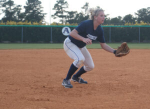 The GRU Augusta softball team conference woes,dropping back-to-back games in a doubleheader against Georgia college to contribute to a conference record of 3-9.