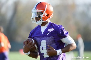 """Freshman Deshaun Watson looks to be in the mix for the starting QB job. Photo credit to """"The Tigernet"""""""
