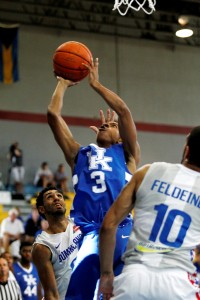 The University of Kentucky men's basketball team falls to the Dominican Repulicans 63-62 on Sunday, August 17, 2014, at the Kendal G.L. Isaacs National Gymnasium in Nassau, Bahamas. Photo by Chet White | UK Athletics
