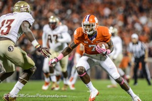 Mike Williams and the Tigers hope to avenge last seasons loss to FSU. Credit to Mark McInnis