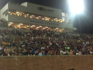 Elon students packed Rhodes Stadium for the Phoenix's home-opener