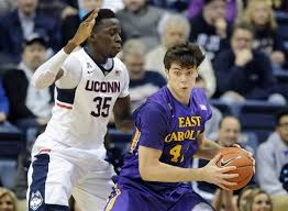 February 4th 2015 matchup against Uconn and ECU.  Marshall Guilmette with the ball.