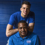 SIK:  Portrait of Georgia State Mens basketball Coach Ron Hunter and his son RJ Hunter Portrait Georgia State University/Atlanta, GA, USA 5/1/2015 X159550 TK1 Credit: Pouya Dianat