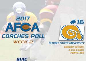 Golden Rams Move Up the Ranks in the AFCA Coaches Poll