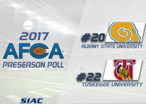 Albany State and Tuskegee Named to Division II AFCA Coaches Poll