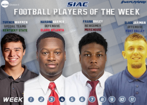 WEEK 4: SIAC Announces Football Players of the Week