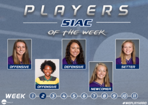 Week 2: SIAC Announces Volleyball Players of the Week