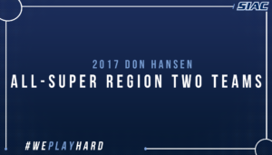 SIAC Football Dominates 2017 Don Hansen All-Super Region Two Teams