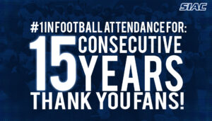 SIAC Leads NCAA D II Football Attendance for 15th consecutive Year